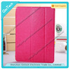 Hign quality fold cover for ipad air, transparent back cover leather case for ipad 5