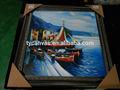 Hechos a mano hermosa de la lona pintura al óleo barcos fabricante
