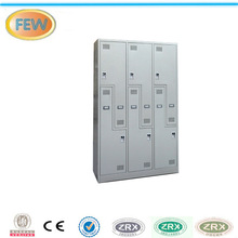 6 door storage wardrobe differential z shape metal locker/L type locker