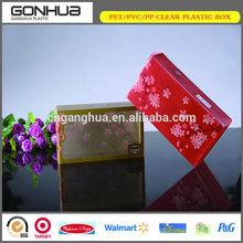 Yiwu hot selling fashion eco-friendly UV printing soft crease custom flower printing packaging box plastic window
