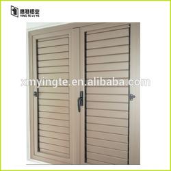 Aluminum metal adjustable shutter louver window frames