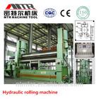 cnc hydraulic 3 rolls metal plate rolling machine