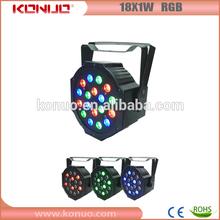18x1W RGB Flat thin LED Par can