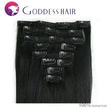 Beautiful no shedding 100% Brazilian human hair clip-on human hair bang