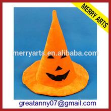 High quality new year halloween pumpkin orange wool felt cowboy hat