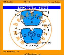 LAND ROVER RANGE ROVER III Rear Brake Pad Set WVA 21282 / D683-7427