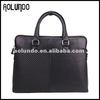 Black Handcrafted Elegant Genuine Leather Briefcases for Lawyers