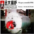 horizontal de la caldera de vapor industrial de la máquina de limpieza