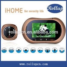Movement detecting digital peephole viewer,voice recordable door chime,3.5inch digital door viewers