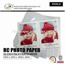 260gsm Premium Waterproof RC Glossy Photo Paper, factory supply