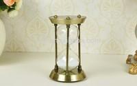 art carft European vintage anqutie bronze zinc alloy 15 minutes hourglasss sand timer home decoration