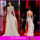 EDE190 Hot Sale Sparkle Crystal Long Sleeve Backless Evening Elie Saab Dresses for Sale