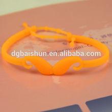 2014 fashion silicone rubber band,decoration girls silicone band