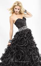 Strapless Sweetheart Ruffled Bottom Prom Dresses