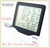 Asia pop wall clock digital max min thermo hygrometer TL8020