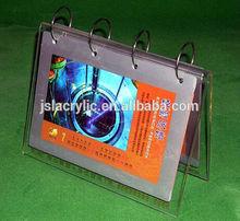 2014 factory price promotional acrylic / plexiglass calendar holder for home decoration