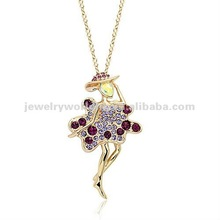 New hot selling crystal necklace! Fashion angel beautiful new hot selling crystal necklace