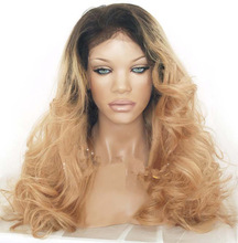 Factory Price Ombre Wig Two Tone Middle Part Ombre Lace Front Wigs