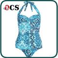 lago azul transparente pangle trajes de baño de mujer traje de baño