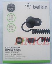 50pcs/lot DHL Free 2.4M 5V 2.1A Belkin Car Charger For Iphone 5 5c 5s ipad mini