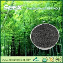 Environmental biochar and humus fertilizer with NPK