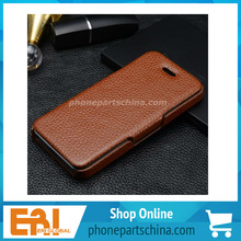flip cell phone leather case for iphone 4, custom cell phone leather case for iphone 4