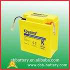 Sealed MF lead acid motorcycle battery KBT6N6(12V6AH)