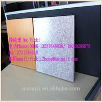 powder coated clip Wood grain aluminum square fireproof ceiling