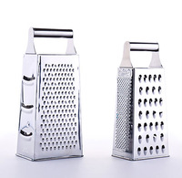 Good quality steel shank 4 sides stainless steel food grater kitchen vegetable grater and stainless steel potato grater