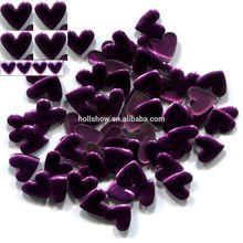 Heart 6mm*6mm Purple Violet Color Hot Fix Flat Fashion Nailheads