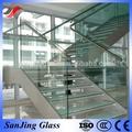 klar treppe gehärtetem glas