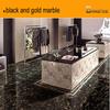 black and gold marble,Portoro marble floor tile