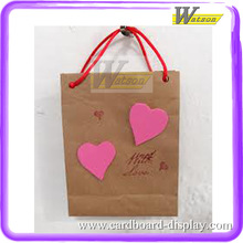 pink butterfly paper gift bag for lingerie