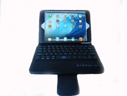 Flip Stand Bluetooth Keyboard Leather Case for iPad Mini