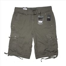 GZY Bulk stock mens cargo shorts with belt and 6 pockets