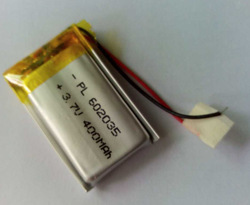 3.7v 400mah DEL-602035PL rechargeable lipo battery lithium polymer battery pack