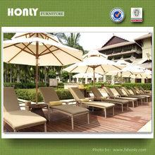 Design sun bed garden sun bed with umbrella ratan outdoor furniture
