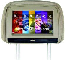 car headrest lcd monitor for lexus with hdmi input , connect telphone ,, fm, ir earphone , games,divx