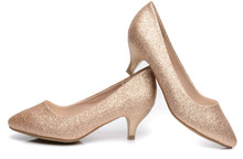 2014 women shoe china designer mid heel shoes mid-heel shoes with glitter
