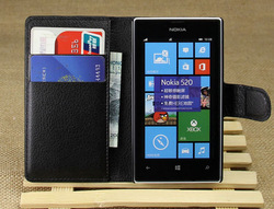 Colors wallet leather case cover for nokia lumia 520