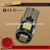 T10 W5W 5SMD 5050 LED White Car Light Bulbs 12V Error Free 5Leds Canbus Car Bulbs