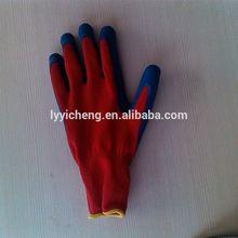 latex coated work glove/health work safety cotton gloves
