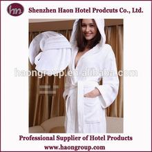 Hot Selling Women's Microfiber Hotel Velour Hooded Bathrobe