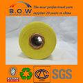 100% recycelter baumwolle garn/niedrigen preis recycling regeneriert 70/306s safran gelb open end/oe recyceln baumwollgarn für glovesfor fa