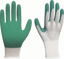 latex coated work glove/mechanics gloves industry safety