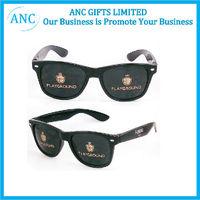 lens logo printed custom promotional sunglasses
