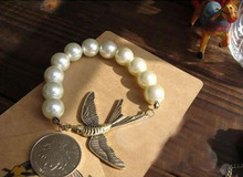Hot China manufactrue new accessories birds design western pearl bead bracelets