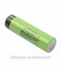 Brillipower rechargeable li battery 3.7v li ion battery cell for Panasonic NCR18650B li ion battery