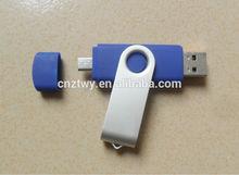 Hot selling metal swivel mobile phone usb flash drive,portable phon eusb flash memory