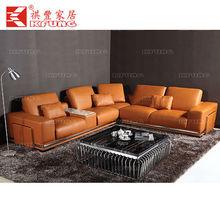 Italian Designer Corner Sectional Leather Sofa Suite